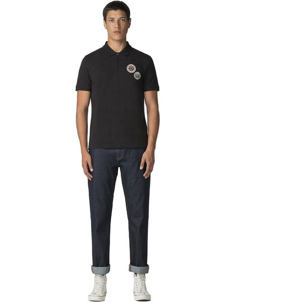 Embroidered Badge Polo, BLACK, hi-res