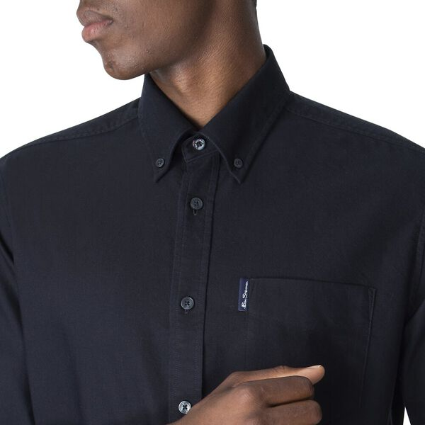 ORGANIC OXFORD SHIRT, BARELY BLACK, hi-res