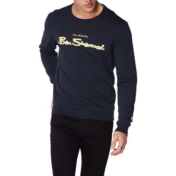 LOGO COLOUR BLOCK SWEAT MIDNIGHT NAVY