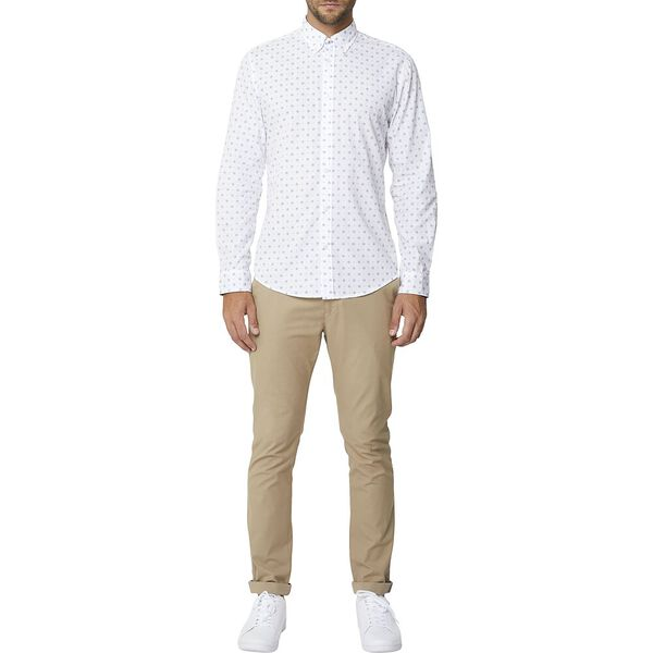 GRAPHIC GEO MOD SHIRT, WHITE, hi-res