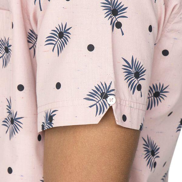 Scattered Palm Shirt, LIGHT PINK, hi-res