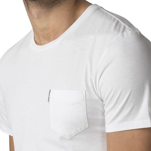 PLAIN POCKET T-SHIRT, WHITE, hi-res