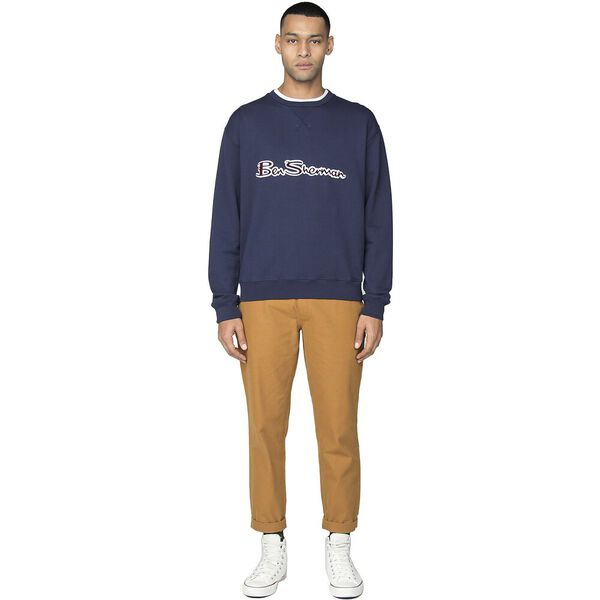 ARCHIVE LOGO CARRIER SWEAT, NAVY, hi-res