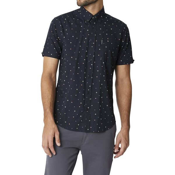 Ss Geo Floral Mod Shirt Anthracite