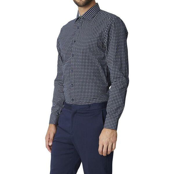 Ls Formal Kings Geo Grid Shirt Dark Navy, DARK NAVY, hi-res