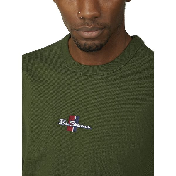 BRUSHED PIQUE SWEAT WITH LOGO, CAMOUFLAGE, hi-res