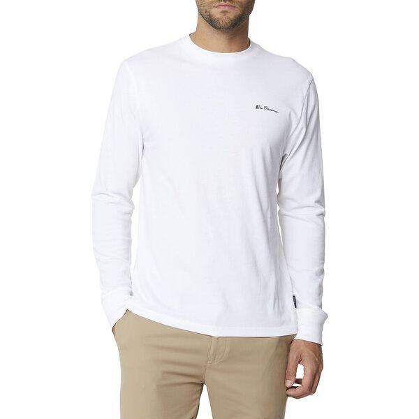 Long Sleeve Logo Tee White