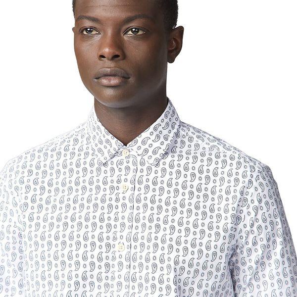 Ss Paisley Print Shirt Off White, OFF WHITE, hi-res