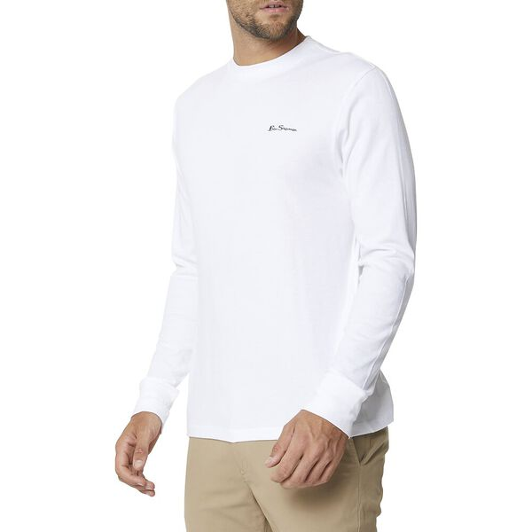 Long Sleeve Logo Tee White, WHITE, hi-res