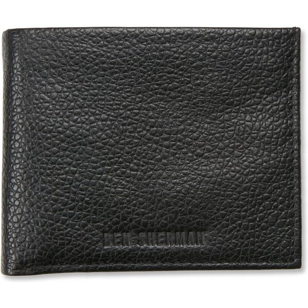 Bi Fold Wallet With Flip Tan/Navy