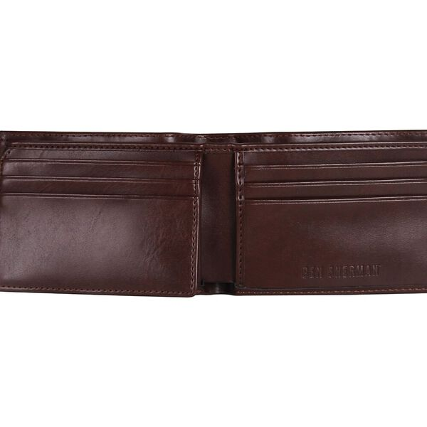 BELT AND WALLET GIFT SET, BROWN, hi-res