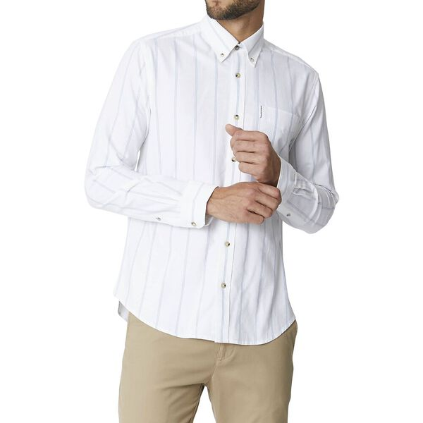 Ls Twin Stripe Oxford White
