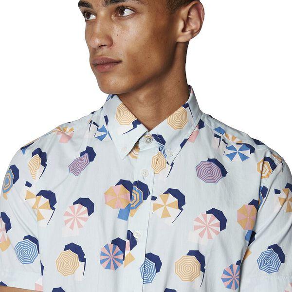 Umbrella Print Shirt, SKY BLUE, hi-res
