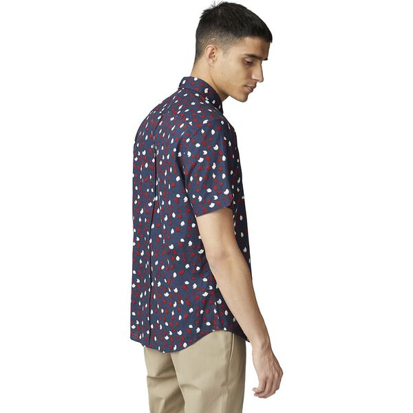 Handpainted Print Shirt, DARK NAVY, hi-res