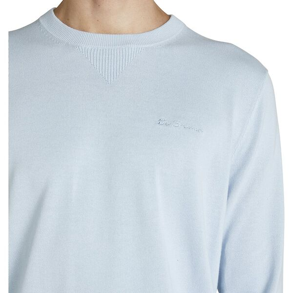 BASIC KNITTED CREW, PALE BLUE, hi-res