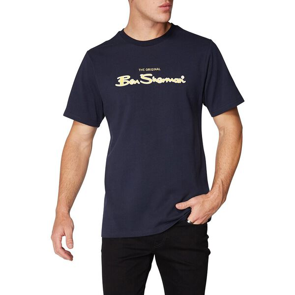 LOGO COLOUR BLOCK TEE MIDNIGHT NAVY