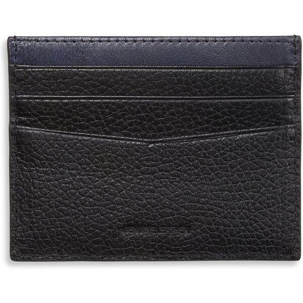 Leather Cc Wallet Black/Navy, BLACK/NAVY, hi-res