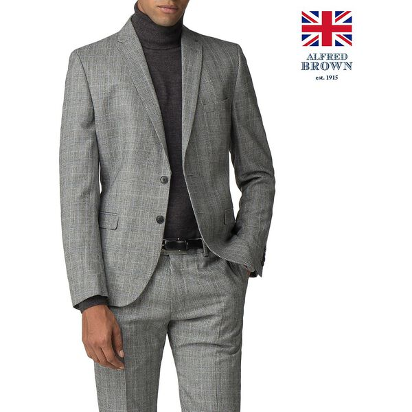 Grey Pow Mod Check Jacket