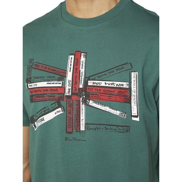 UNION MUSIC TAPES TEE, TREKKING GREEN, hi-res