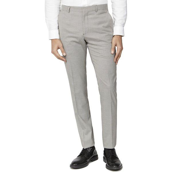 Mustard Puppytooth Slim Trouser