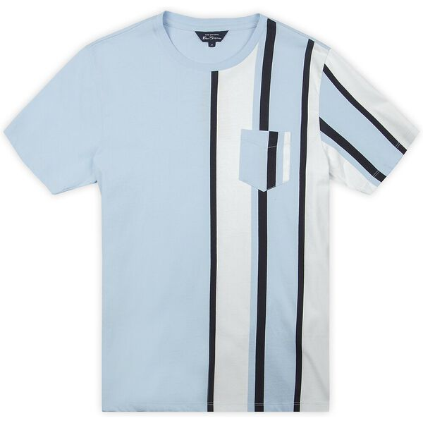 VERTICAL STRIPE TEE, SKY, hi-res