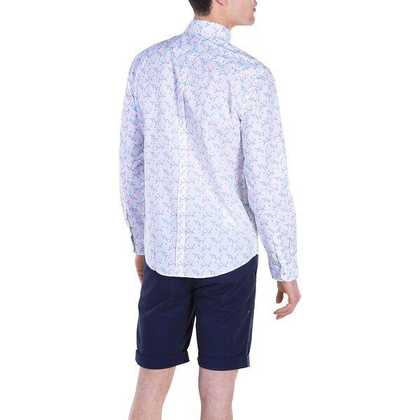 Ls Scatter Leaf Mod Shirt, DUSTY PINK, hi-res