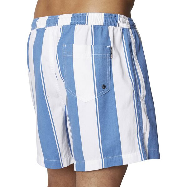 GRAPHIC STRIPE SHORT, DUSKY BLUE, hi-res