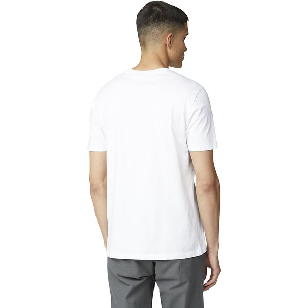 Mic Print Tee White, WHITE, hi-res