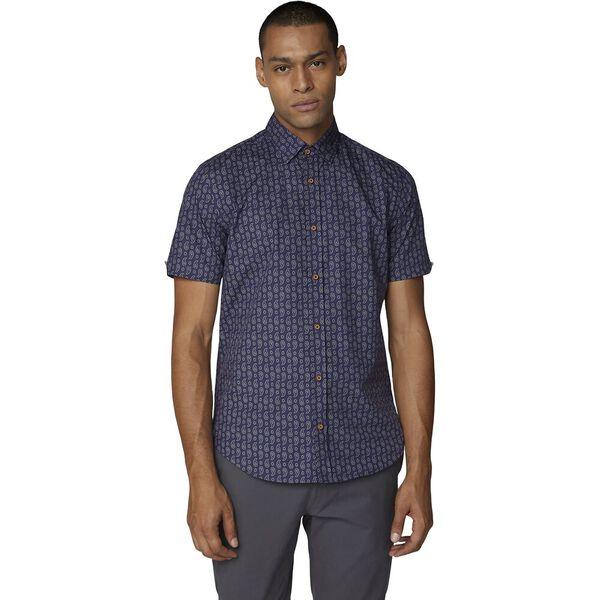 Ss Paisley Print Shirt Dark Blue