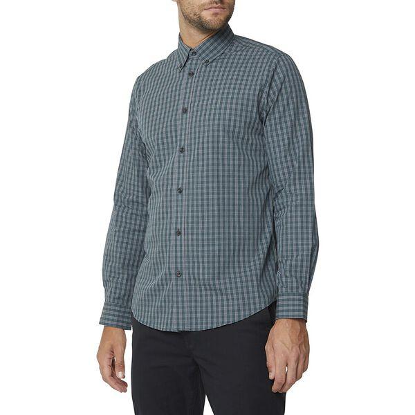 Ls Mod Multi Check Shirt Teal, TEAL, hi-res