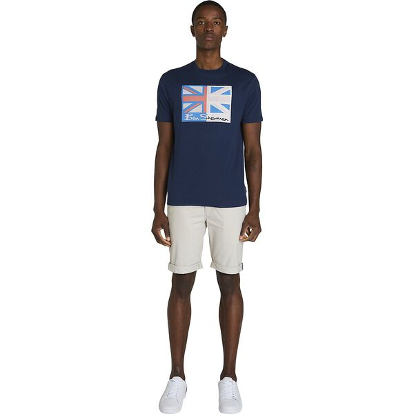 SPLICED FLAG TEE, CLASSIC NAVY, hi-res