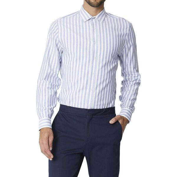 Ls Formal Camden Oxford Stripe Shirt Sky