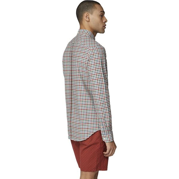 House Gingham Shirt, RED, hi-res