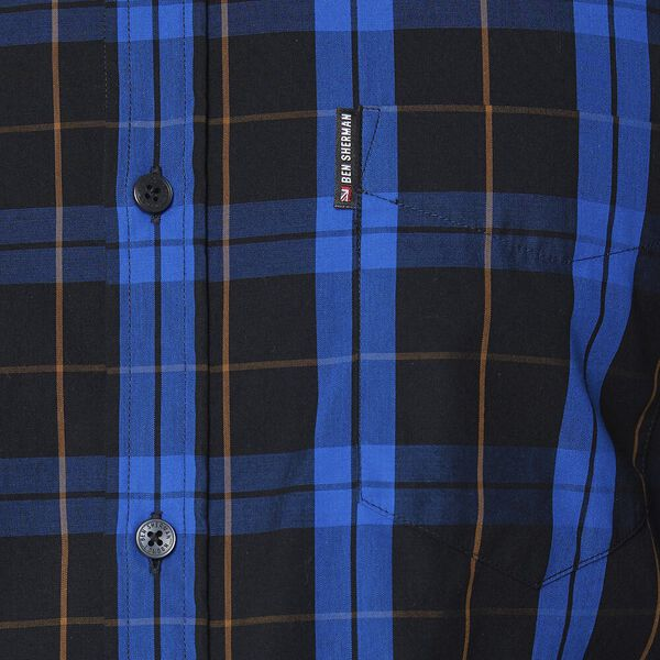 TWIN CHECK LS MOD SHIRT ANTHRACITE, ANTHRACITE, hi-res