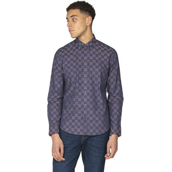 Ls Ivy Stripe Check Shirt, DARK NAVY, hi-res