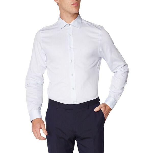 Herringbone Spot Kings Shirt, LIGHT BLUE, hi-res