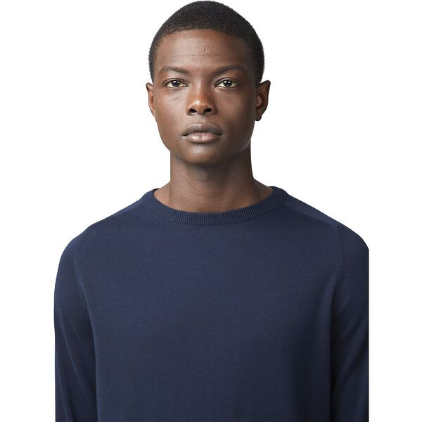 COTTON CREW NECK KNIT, DARK NAVY, hi-res