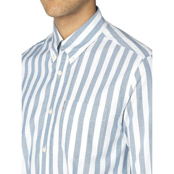 Oxford Ivy Stripe Shirt, JAZZY BLUE, hi-res