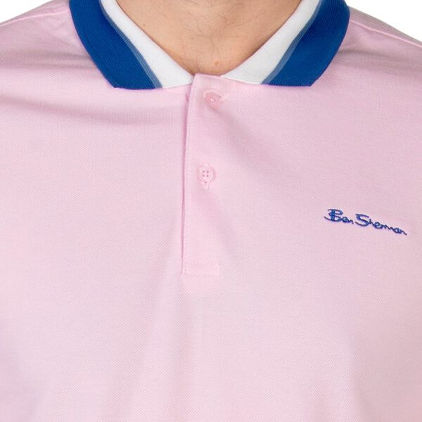 Contrast Collar Polo, CHALK PINK, hi-res