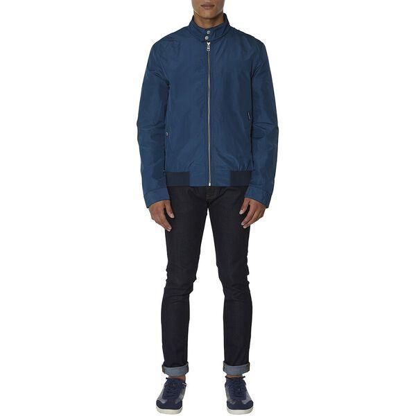 Micro Check Harrington Jacket, NAVY, hi-res