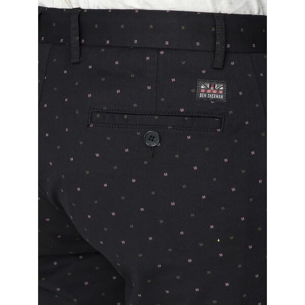 Printed Dobby Short, BLACK, hi-res