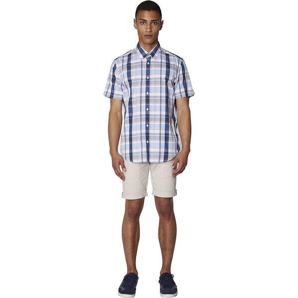 Madras Check Shirt, NAVY, hi-res