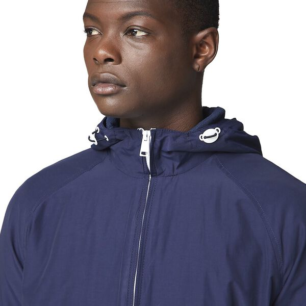HOODED JACKET, NAVY, hi-res