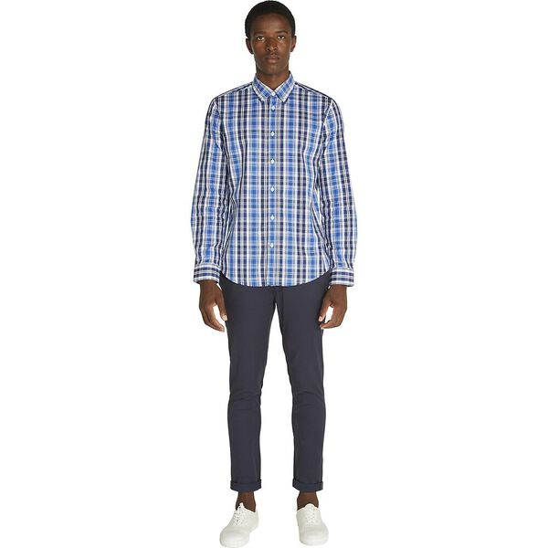 MOD MED MULTI CHECK SHIRT, CLASSIC NAVY, hi-res