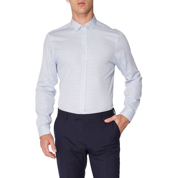 FORMAL DOUBLE STRIPE CHECK KINGS SHIRT