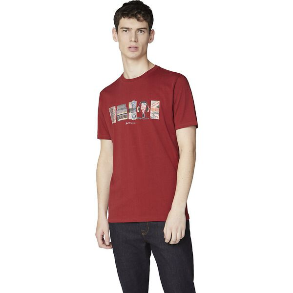 3X1 ON BRAND FILLS TEE RED, RED, hi-res
