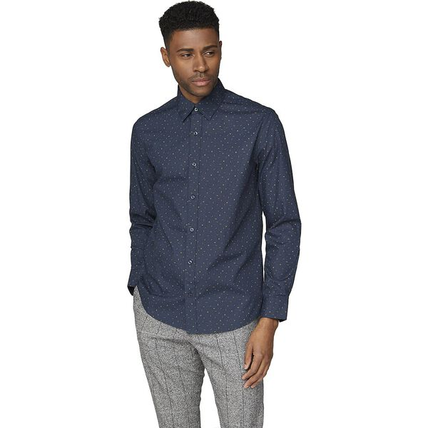 Ls Scattered Poplin Print Midnight