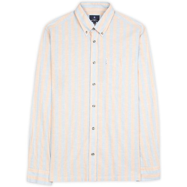 CANDY STRIPE SHIRT, PEACH, hi-res