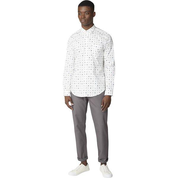 Conversational Print Shirt, OFF WHITE, hi-res
