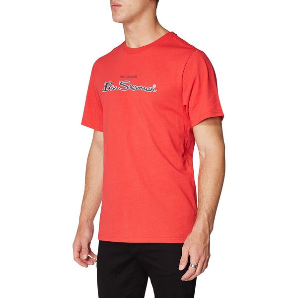 LOGO COLOUR BLOCK TEE RED